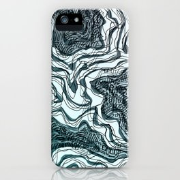Ink River - Grey Blue edition iPhone Case
