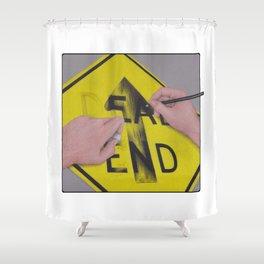 Onward by Lars Furtwaengler   Colored Pencil / Pastel Pencil   2013 Shower Curtain