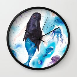 Blue and her jelly friends Wall Clock