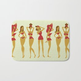 Brunette Beauties Bath Mat