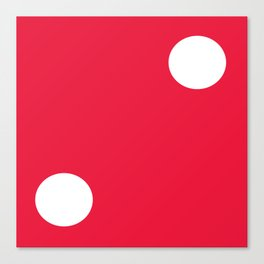Red Dice 2 Canvas Print