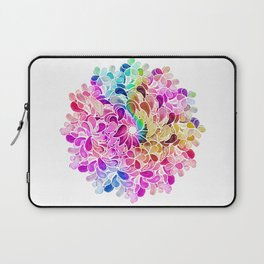 Rainbow Watercolor Paisley Floral Laptop Sleeve