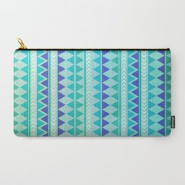 Winter Aztec Pattern Carry-All Pouch