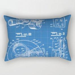 Movie Camera Patent - Film Camera Art - Blueprint Rectangular Pillow