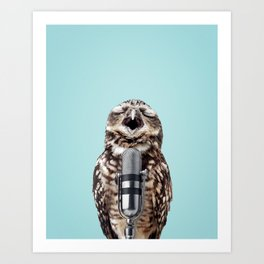 SINGING OWL Art Print