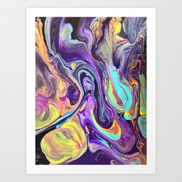Pooling Paint 2 Art Print