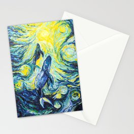 Whales. Ocean life Stationery Cards