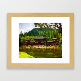 Temple Valley Temple ... By LadyShalene Framed Art Print