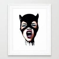 scream Framed Art Prints featuring Scream by Bella Harris