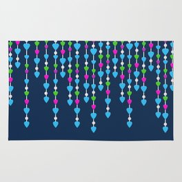 Pearl beads and hearts .  3 Rug