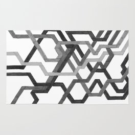 Black and White Metro Rug