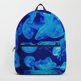 Jellyfish in blue Backpack