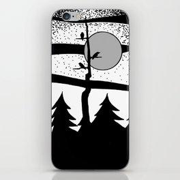 Raven Tree Monochrome iPhone Skin