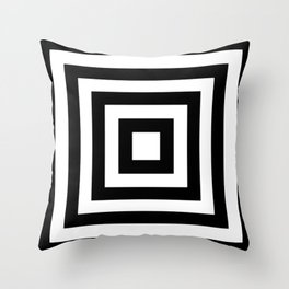 Classic Black White Squares Throw Pillow