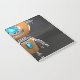 Cute little robot character design Notebook