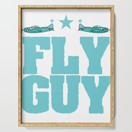 """""""Fly guy""""  tee design perfect for aircraft lovers like you! Makes a nice gift too!  Serving Tray"""