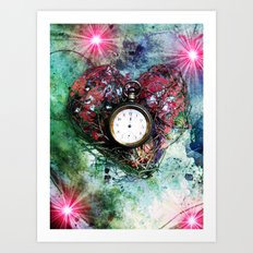 Heart of Time Art Print