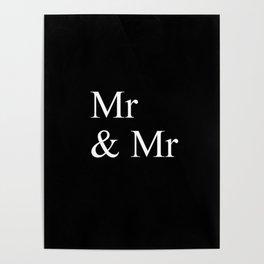 Mr & Mr Monogram standard Poster