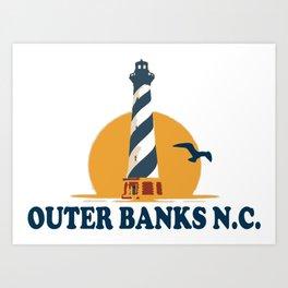 Outer Banks - North Carolina. Art Print