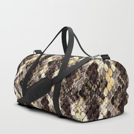 The pattern of snake skin. Duffle Bag