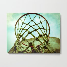 Basketball Hoop Metal Print