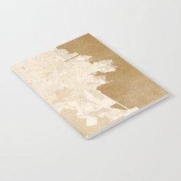 San Francisco Penninsula vintage map in sepia Notebook