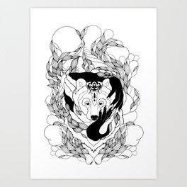 Glam-Bear Art Print