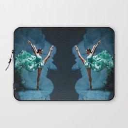 -O1- Blue Ballet Dancer Deep Feelings. Laptop Sleeve
