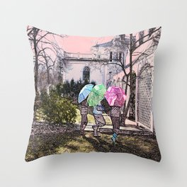 3 Umbrella's! Throw Pillow