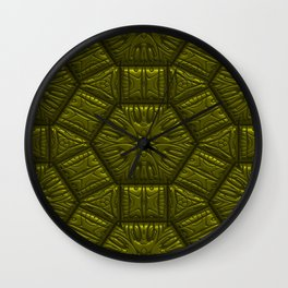 Intriguing shimmering Star Pattern,olive Wall Clock