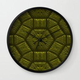 Intriguing shimmering Star Pattern,olive Wall Clock