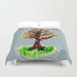 Grunge sketch of tree Duvet Cover