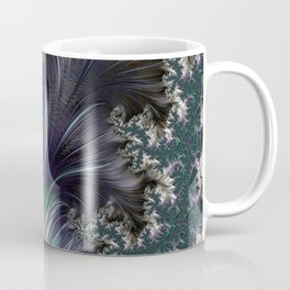 """Orion's Leaf"" Green and Silver Fractal Coffee Mug"