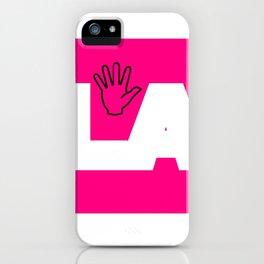 (mano)LA logo iPhone Case