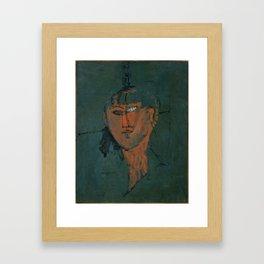 Amadeo Modigliani / Tête rouge - 1915 Framed Art Print