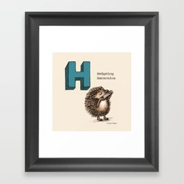 Animals & Instruments ABCs – H Framed Art Print