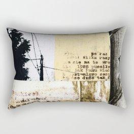 Crossed Lines Rectangular Pillow