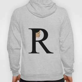 Letter R with face of women Hoody