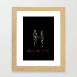 Lean on me Framed Art Print
