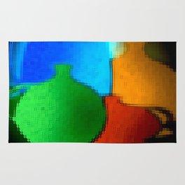 Colored jugs. Rug