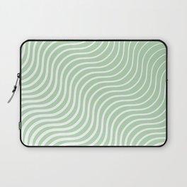 Whiskers - Light Green & White #440 Laptop Sleeve