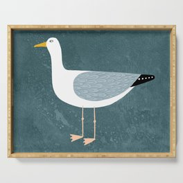 Seagull Standing Serving Tray