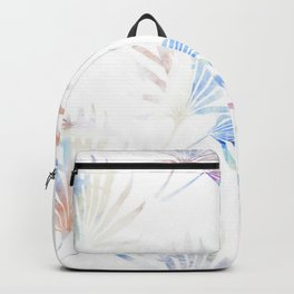 Palmetto Fronds Pattern Pastel Pink Blue Backpack