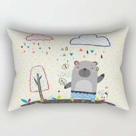 THE BEAR IN THE RAIN Rectangular Pillow