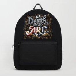 Til Death We Do Art Backpack