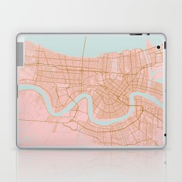 New Orleans map, Lousiana Laptop & iPad Skin