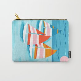 Popin - memphis sports retro throwback neon sailing sailboat cool rad gnarly trendy watersports Carry-All Pouch