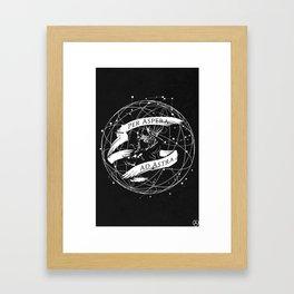 Per Aspera Ad Astra (White) Framed Art Print
