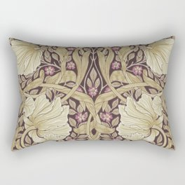 William Morris Pimpernel Orchid & Violets Floral Textile Pattern Rectangular Pillow