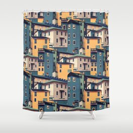Night Castles (Pattern) Shower Curtain